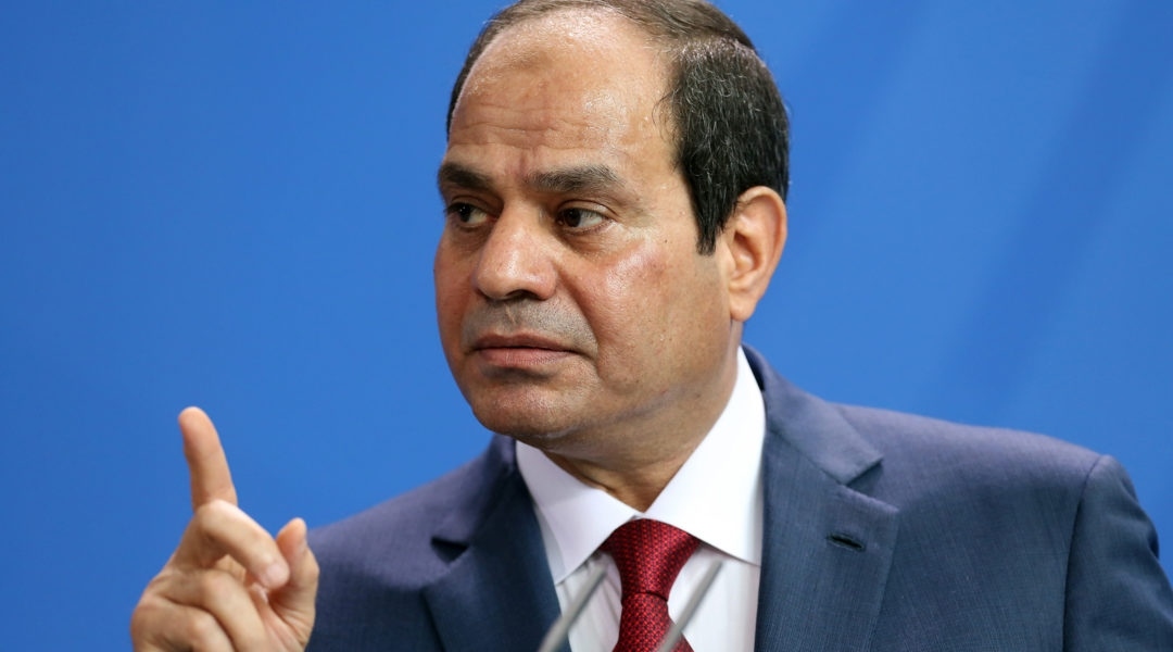 Egyptian President Abdel Fattah el-Sissi speaking during a news conference with German Chancellor Angela Merkel (unseen) in Berlin, Germany, June 3, 2015. (Adam Berry/Getty Images)