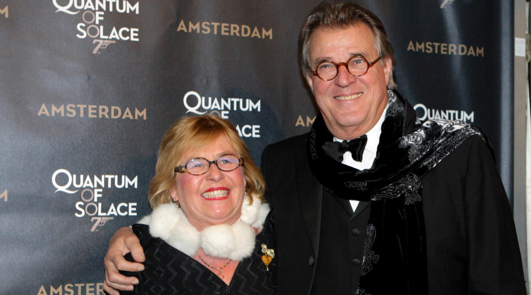 Dutch actor Jeroen Krabbe arriving with his wife Herma at a premiere at Tuschinksi Theatre in Amsterdam, the Netherlands on November 4, 2008 (Greetsia Tent/Getty Images)