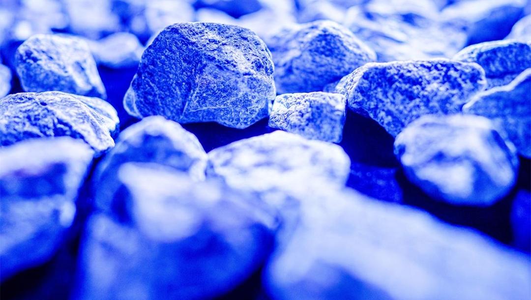 """Stones glowing in the """"Light of Life"""" Holocaust memorial display of Daan Roosegaarde in the Netherlands. (Overijssel Viert Vrijheid)"""