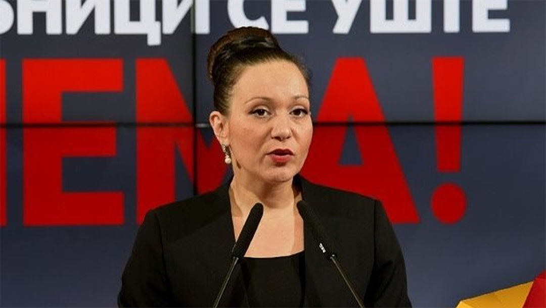 North Macedonian Labor and Social Policy Minister Rasela Mizrahi speaking at a conference in December 2019. (Facebook/Rasela Mizrahi)