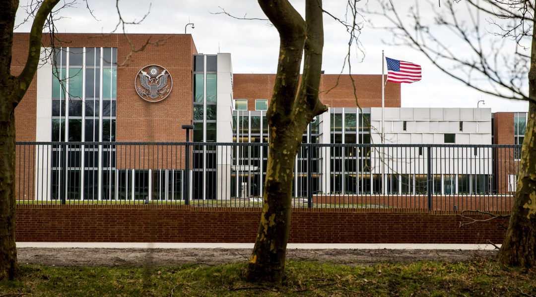 The US Embassy in Wassenaar, The Netherlands on January 29, 2018 (Koen van Weel/AFP via Getty Images)