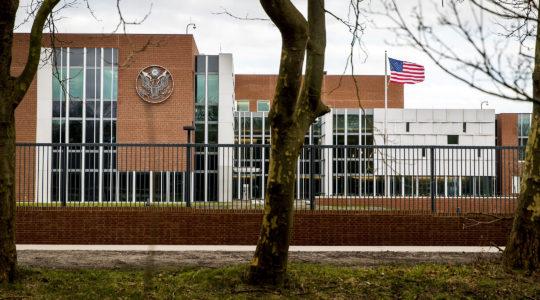 The US Embassy in Wassenaar, The Netherlands on January 29, 2018 (Koen van Weel/AFP via Getty Images)