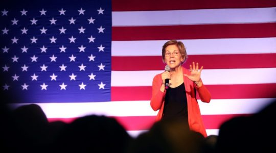 Democratic presidential candidate Sen. Elizabeth Warren speaks during a campaign event at Tupelo Music Hall in Derry, N.H., Feb. 6, 2020. (Justin Sullivan/Getty Images)