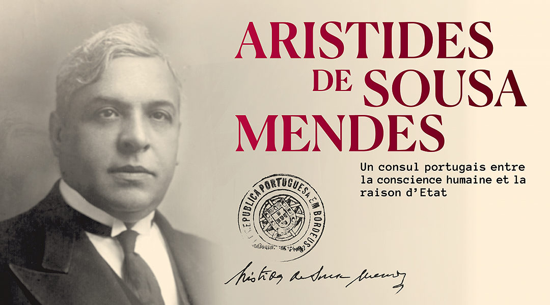 A poster advertising an exhibition in Luxembourg on the actions of Aristides de Sousa Mendes. (Courtesy of the government of Luxembourg)