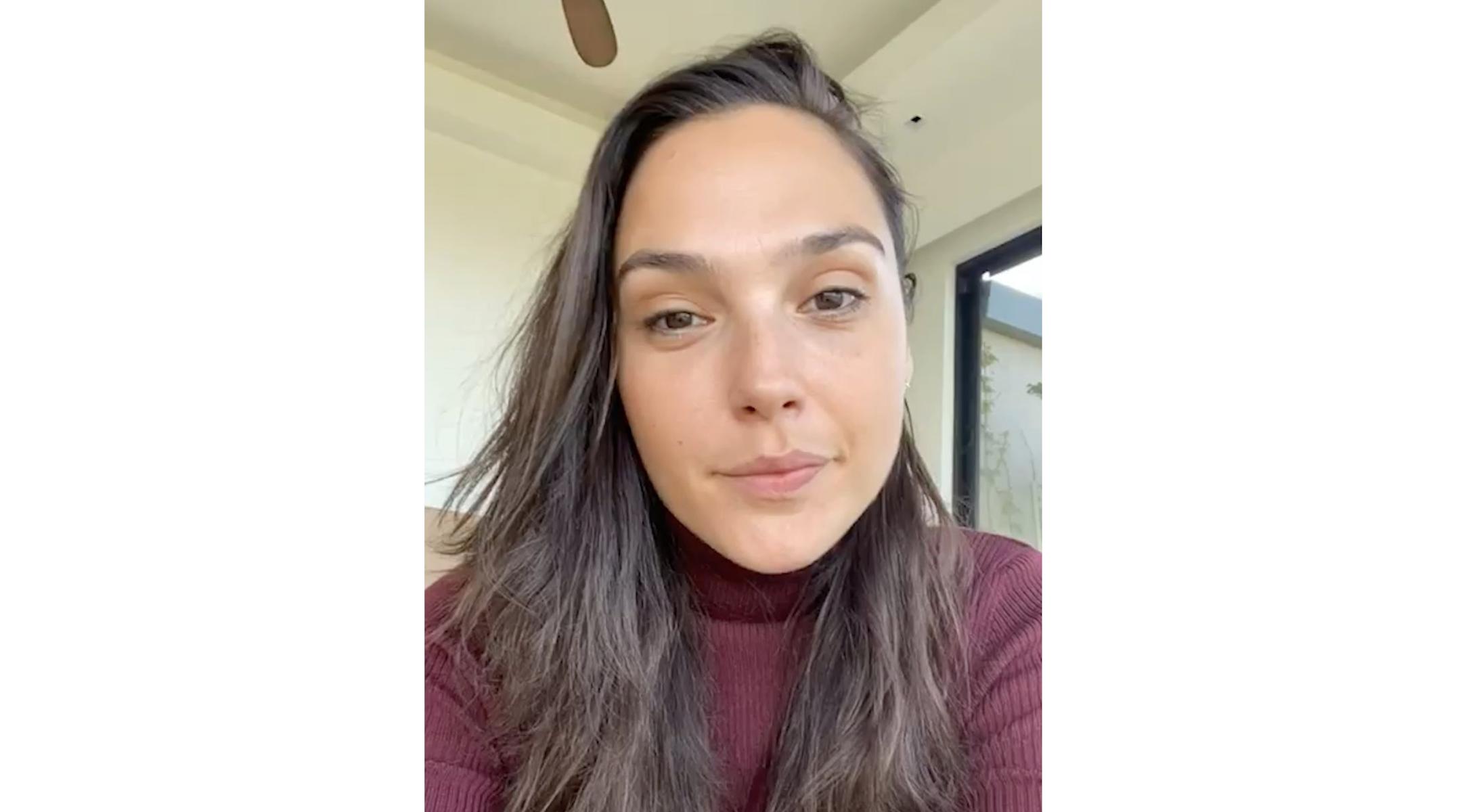 Gal Gadot in a video on her Instagram. (Gal Gadot/Instagram)