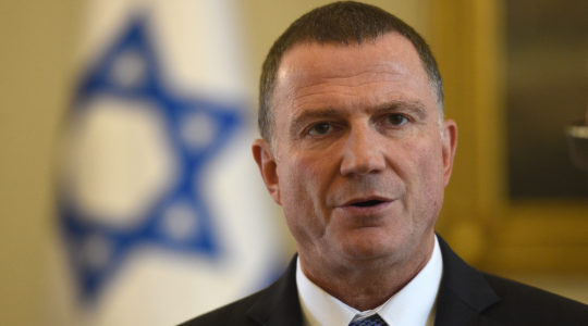 Yuli Edelstein, the speaker of the Israeli Knesset, shown on an official visit to Warsaw in 2017. (Maciej Gillert/Getty Images)