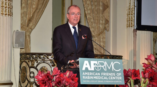 New Jersey Governor Phil Murphy speaking at American Friends Of Rabin Medical Center 2019 Gala at The Plaza Hotel on November 11, 2019 in New York City. (Patrick McMullan via Getty Images)