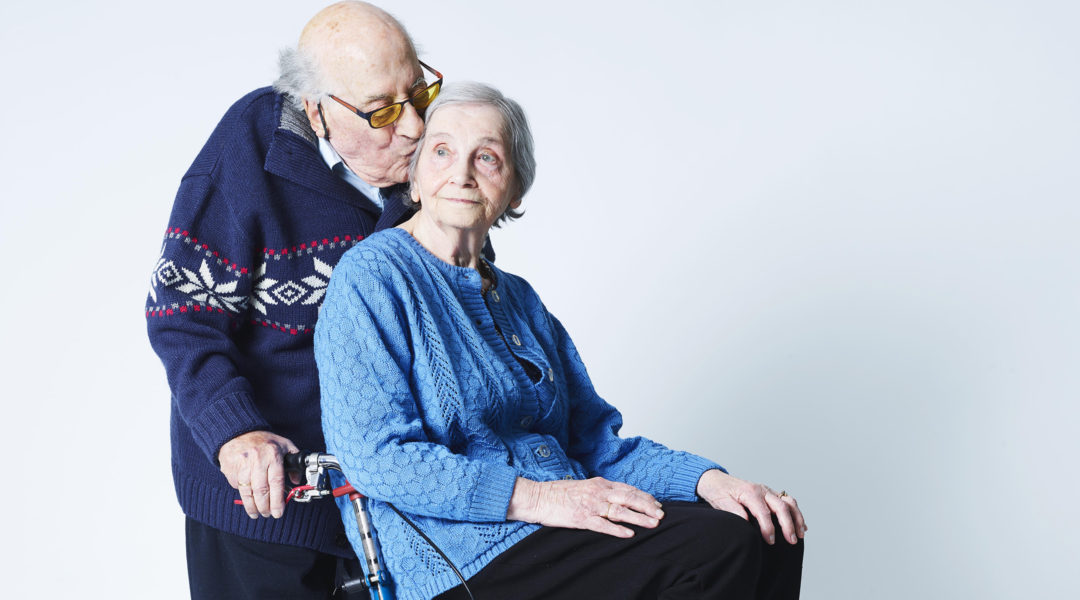 Meijer and Tedje van der Sluis during filming in Amsterdam of a 2018 documentary film about their marriage. (Merlijn Doomernik)