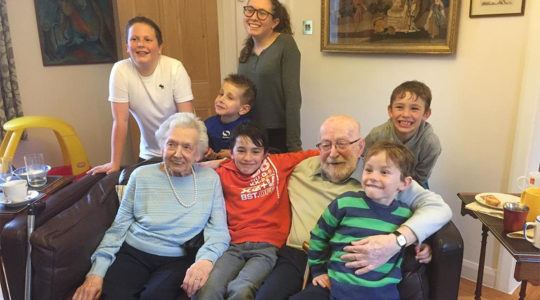 Ronald David Bayfield, his wife, Seila and their great grandchildren in 2017. (Courtesy of the Bayfield family)