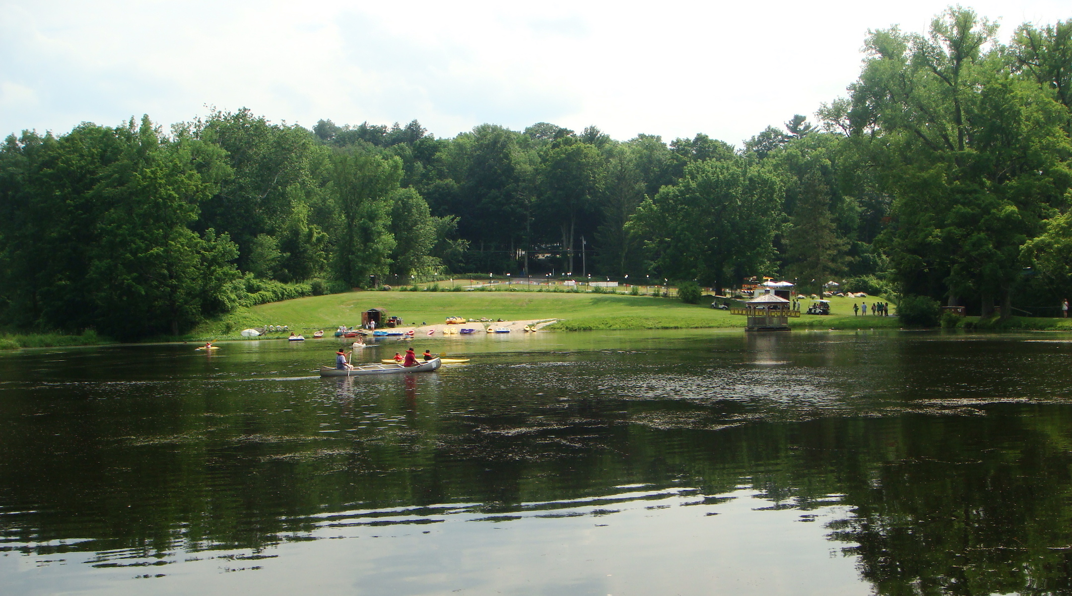 A view of the lake at the Union for Reform Judaism's Eisner Camp in Massachusetts. (Wikimedia Commons)