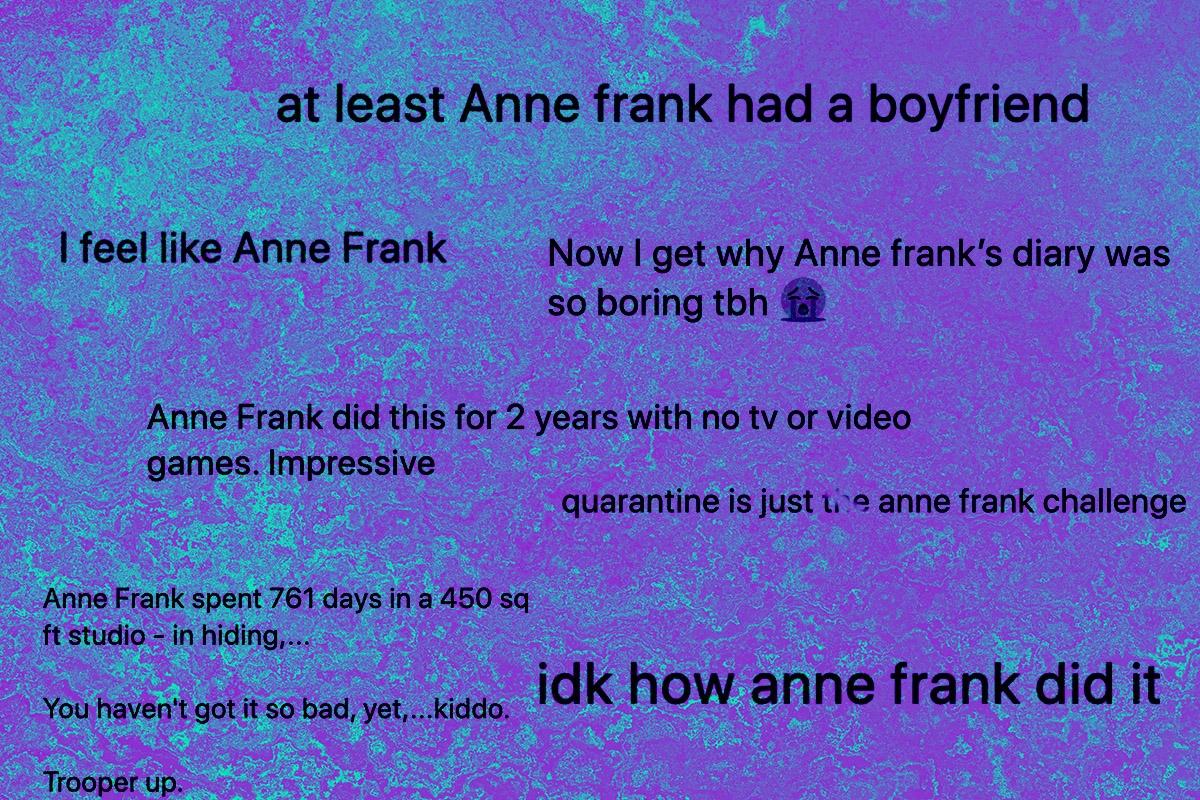 anne frank tweets
