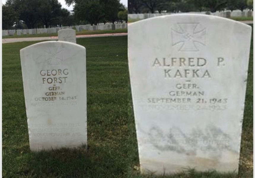Veterans Affairs department to reverse course and replace tombstones that have swastikas
