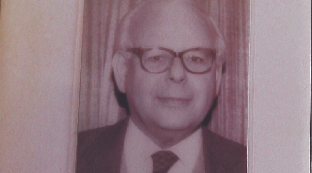 A picture of Herbert Max Fraenkel that a team of volunteers studying his ancestry found in January at him home in London, UK. (Courtesy of The Jewish News)