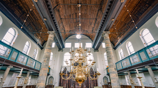 The interior of the Portuguese Synagogue in Amsterdam, the Netherlands. (Bas de Brouwer)