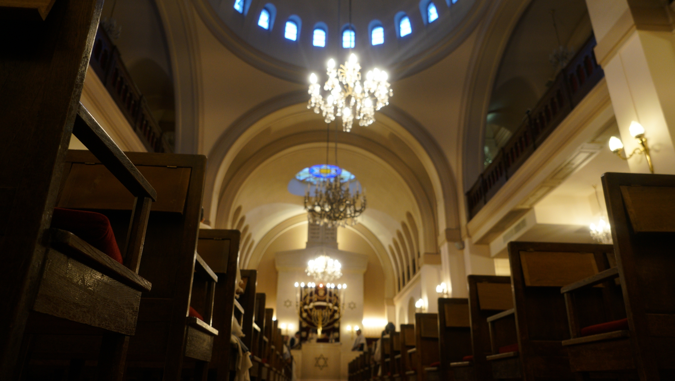 March 10 was the last time before the COVID-19 pandemic that congregants were able to worship at the synagogue of Neuilly-sur-Seine, France, pictured here in on Dec. 11, 2017. (Cnaan Liphshiz)