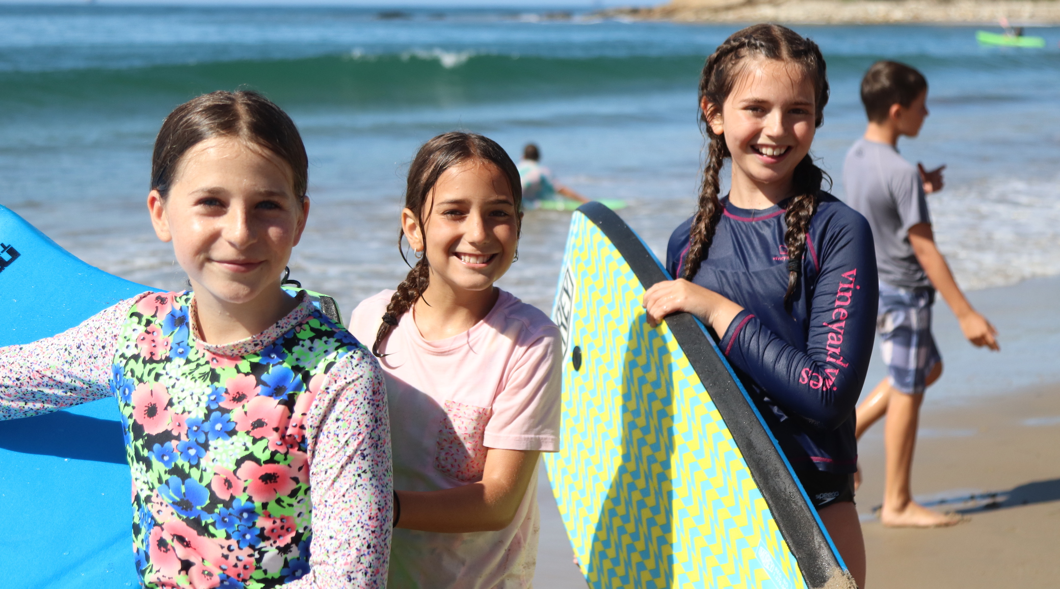 """Rising sixth graders at Camp Ramah in California on the beach during an overnight trip. The camp has said """"we cannot open camp in mid-June or run our summer sessions as scheduled."""" (Courtesy of Ramah in California)"""