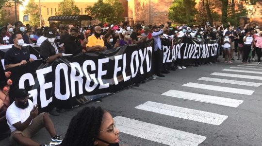 Marchers at the front of the interfaith demonstration in memory of George Floyd and protesting systemic racism in Chicago on June 2, 2020. (Courtesy of Ari Hart)