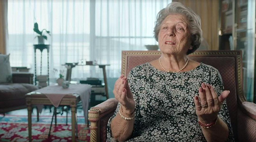 "Holocaust survivor Regina Sluszny tells VRT about her feelings toward Israel during filming in 2019 for the Belgian documentary ""Children of the Holocaust."" (VRT)"