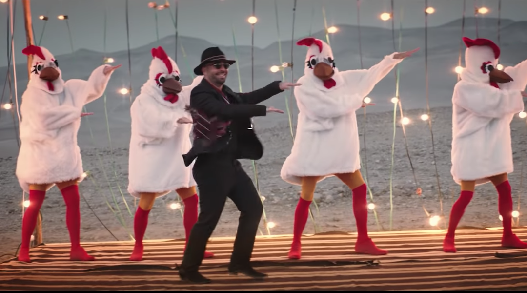 Israeli pop stars' music video with Mexican and Arab garb — and giant roosters —...