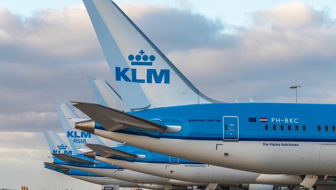 KLM airplanes at Schiphol airport in the Netherlands. (KLM)