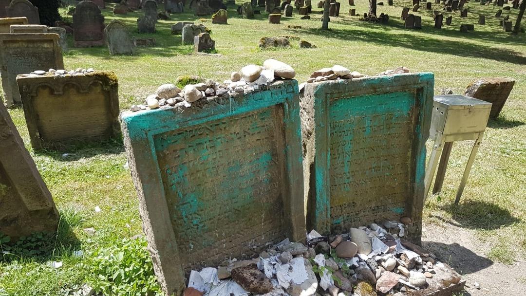 Dozens of gravestones vandalized in Europe's oldest surviving Jewish cemetery