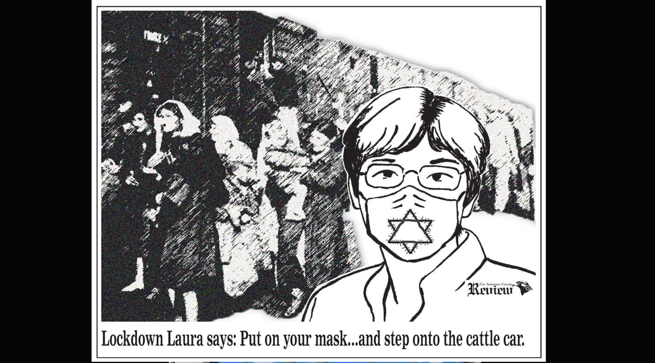 After criticism, Kansas newspaper removes cartoon likening mask requirement to the Holocaust