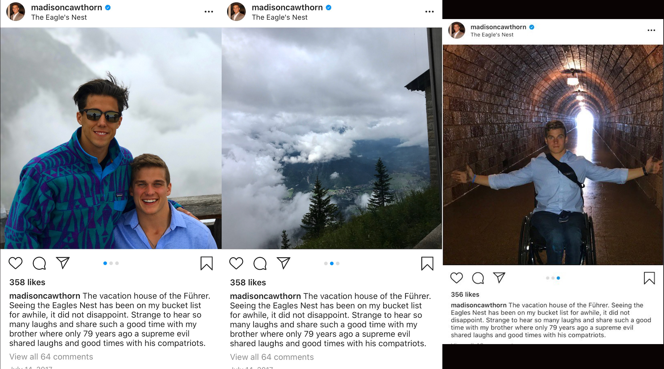 Right-wing NC congressional candidate Madison Cawthorn deletes pictures from his vacation to Hitler's retreat