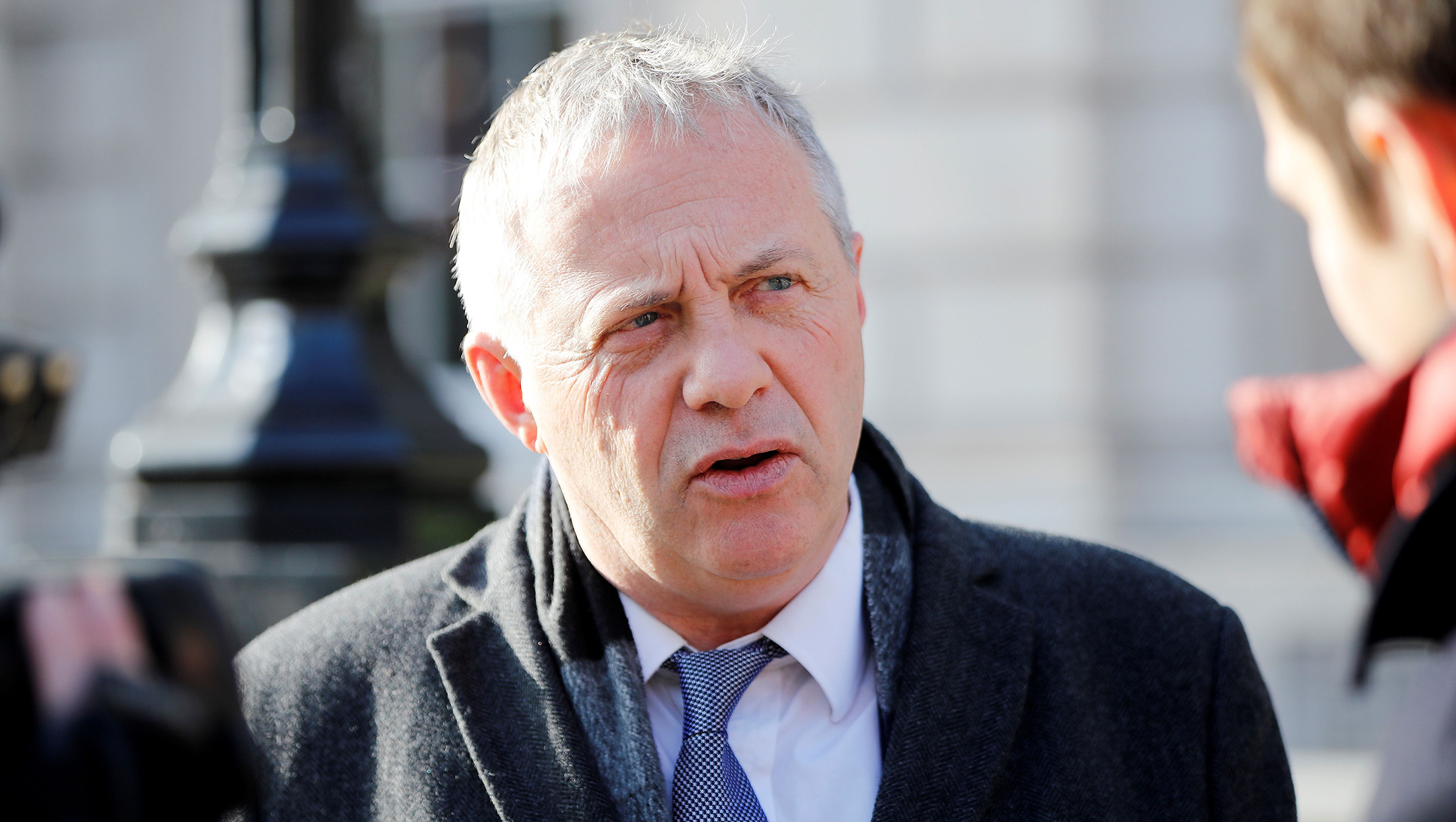 John Mann leaves the Cabinet Office on Whitehall, in central London, the United Kingdom on January 31, 2019. (Tolga Akmen / AFP via Getty Images)