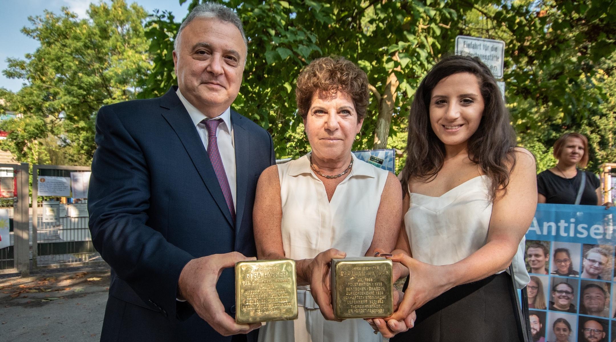 'Stumbling stone' memorials in Germany remember the family of Israeli ambassador's wife