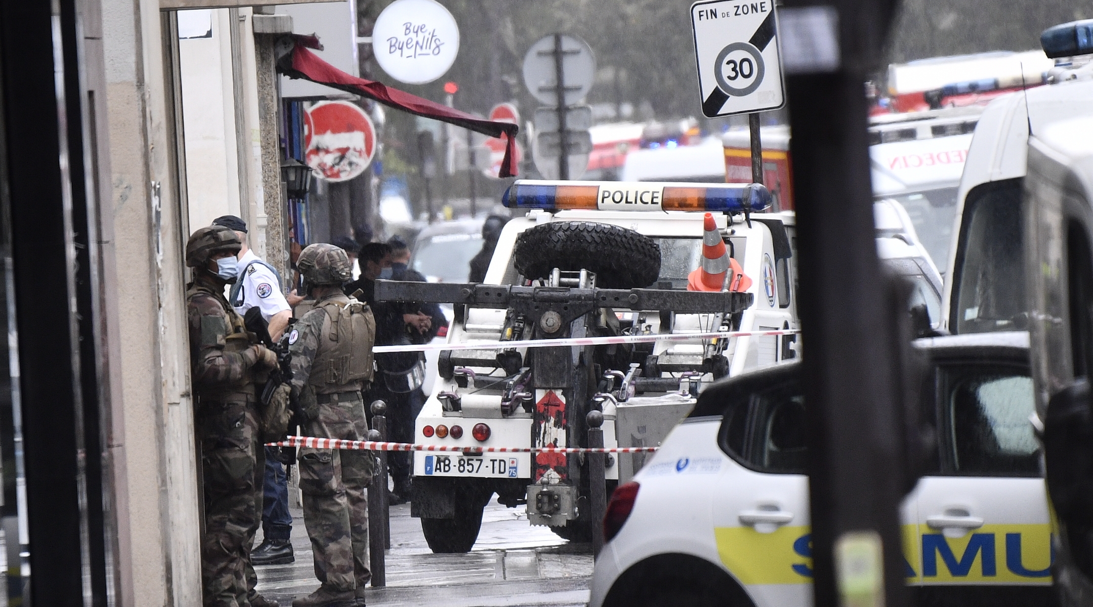 Multiple pedestrians injured in stabbings outside former Paris offices of Charlie Hebdo magazine