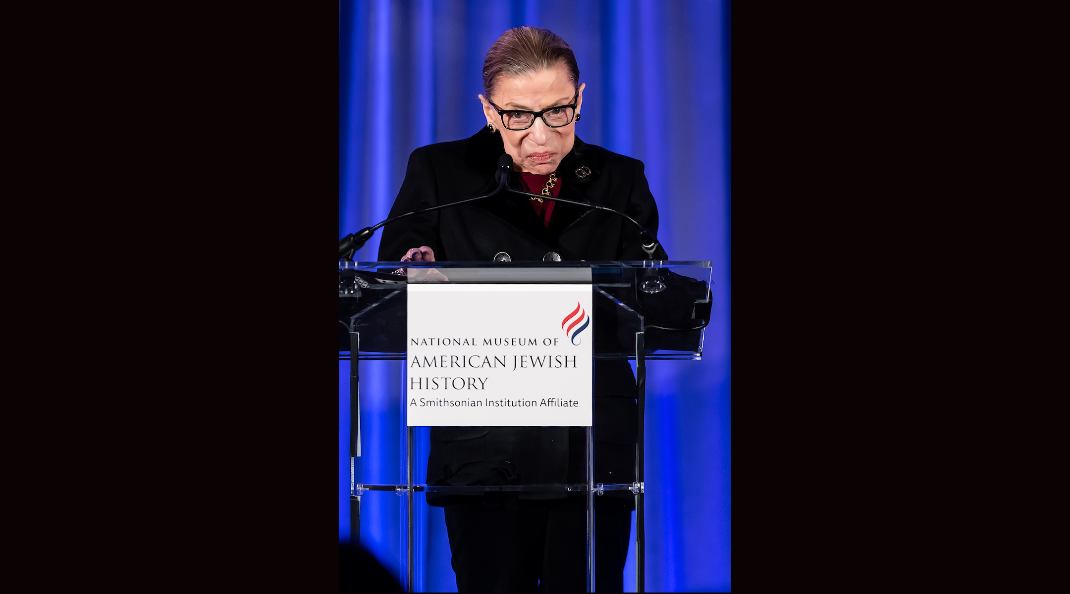 Supreme Court Justice Ruth Bader Ginsburg speaks at the National Museum Of American Jewish History on December 19, 2019 in Philadelphia. (Gilbert Carrasquillo/Getty Images)