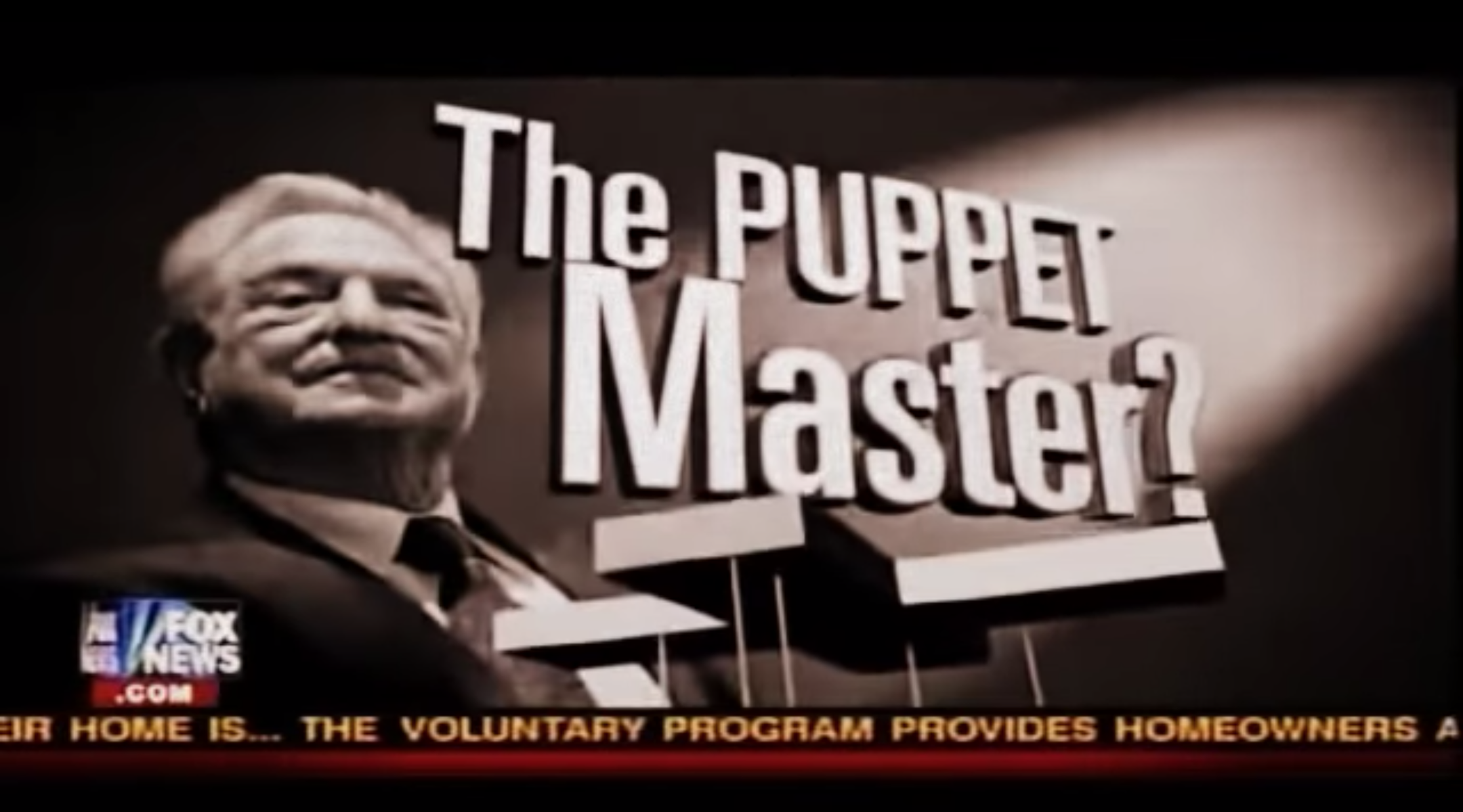 "RIght-wing commentator Glenn Back ran a series of shows on Fox News in 2010 calling Soros a ""puppet master."" (Screenshot from YouTube)"