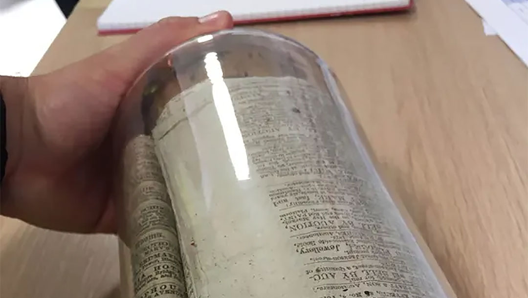 150-year-old time capsule found in a wall of oldest synagogue in British city