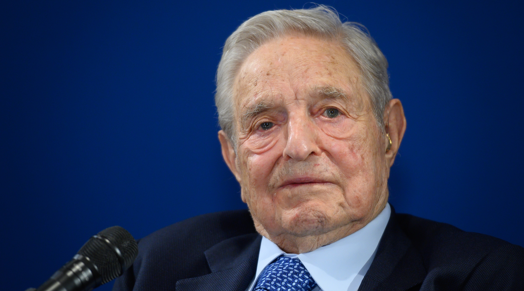 George Soros, a Jewish-American financier and liberal philanthropist pictured here in January, has donated billions around the world and become a leading target of conservatives and, increasingly, anti-Semites. (Fabrice Coffrini/AFP via Getty Images)