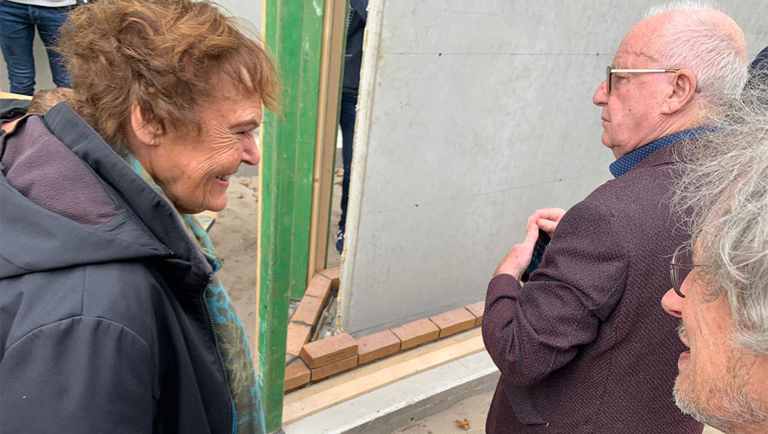 Friend of Anne Frank lays first stone of Amsterdam's newest Holocaust monument