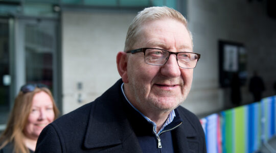 General Secretary of Unite the Union Len McCluskey leaves the BBC Broadcasting House in London, England on November 17, 2019. (Ollie Millington/Getty Images)