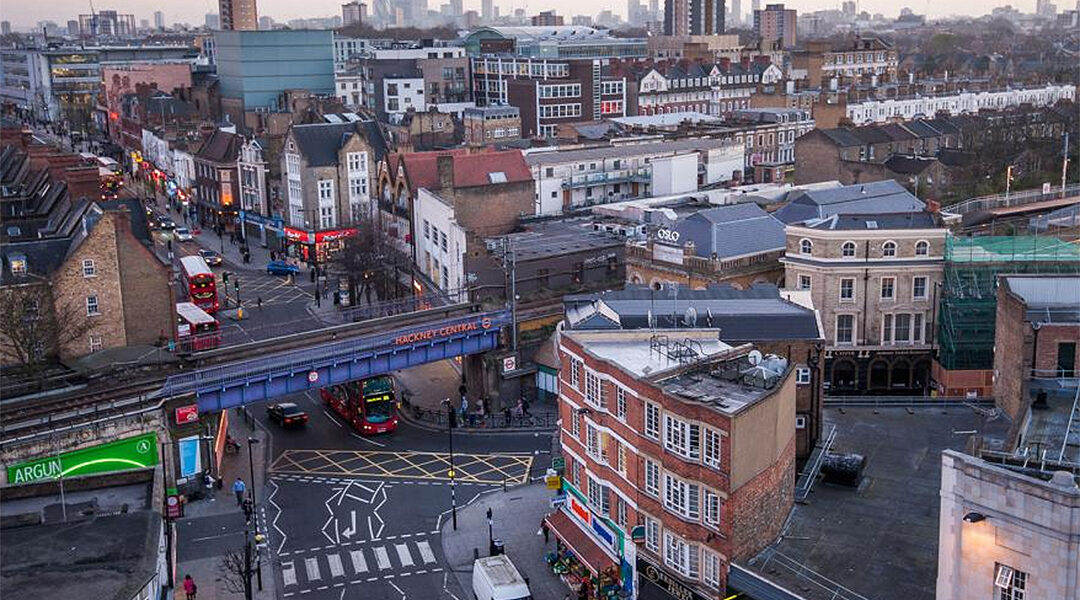 A view to a commercial area of the London borough of Hackney. (City of London)
