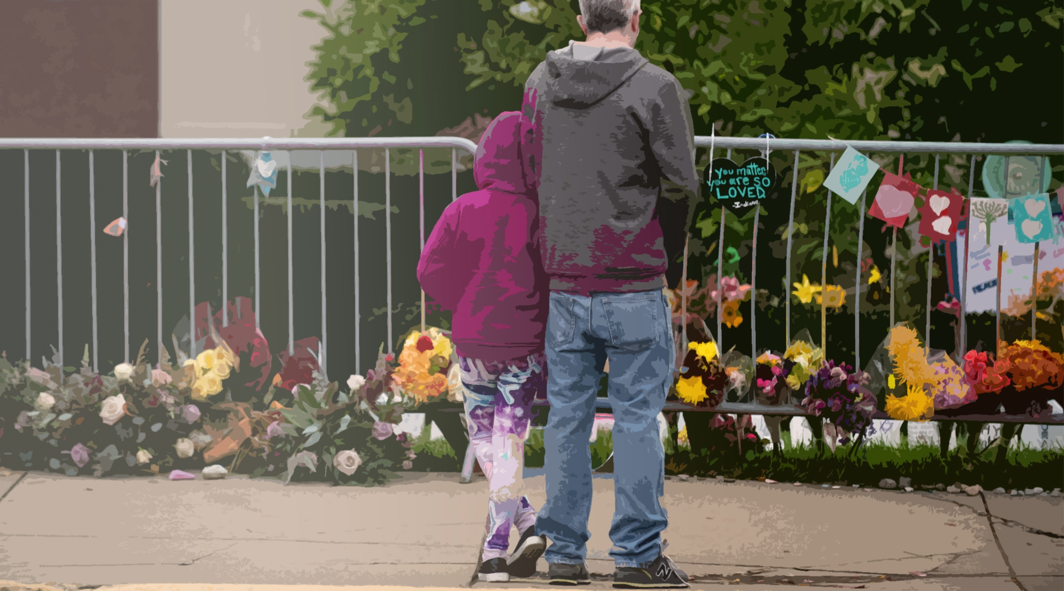 Pittsburgh synagogue shooting flowers
