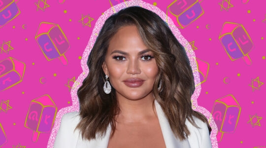 Chrissy Teigen on Hanukkah Background