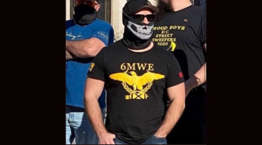 This photo was shared tens of thousands of times in conjunction with Wednesday's insurrection, but it was taken last year. (Screenshot from Twitter)