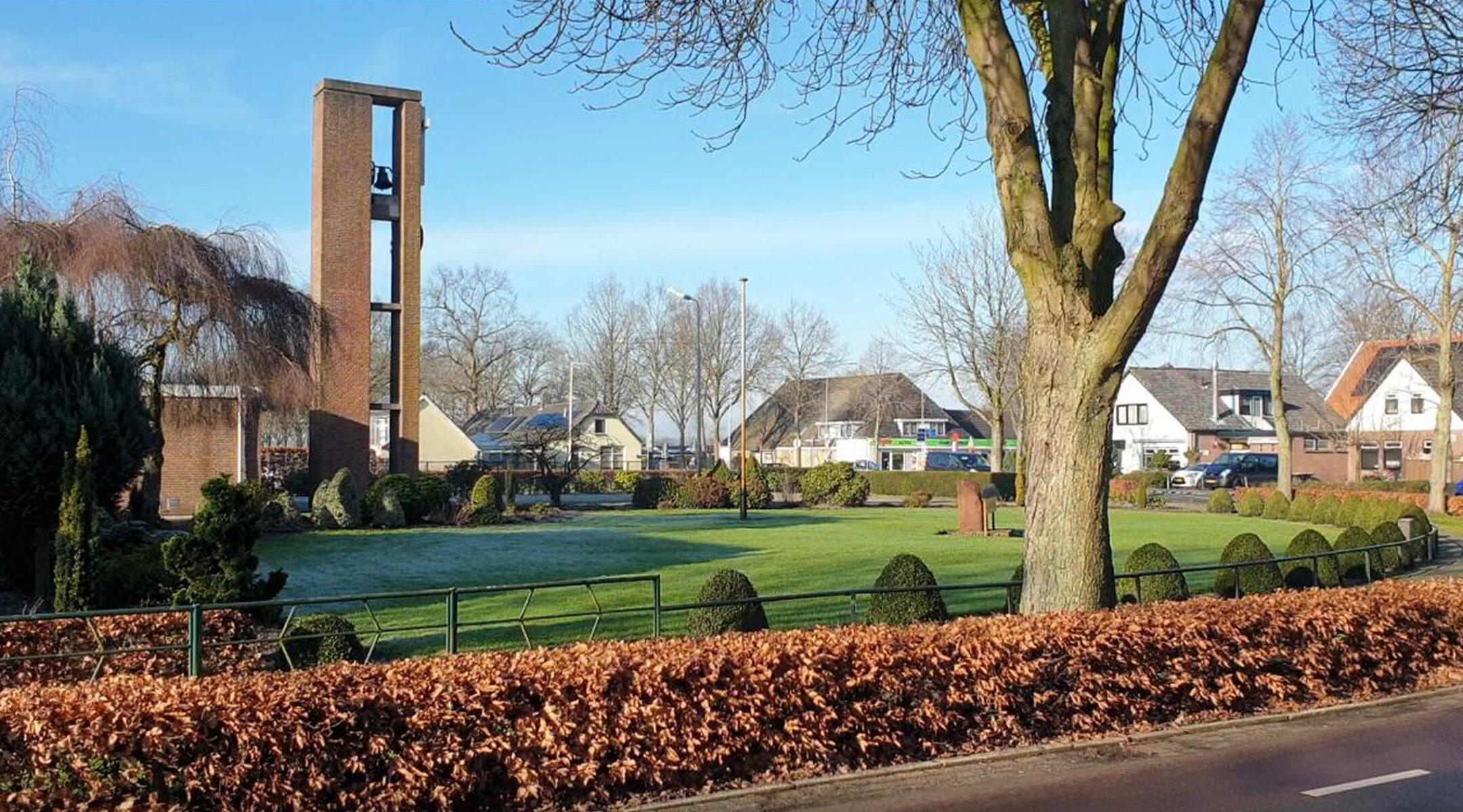 Church bells toll in Nieuwlande, the Netherlands on Jan. 25, 2021. (Cnaan Liphshiz)