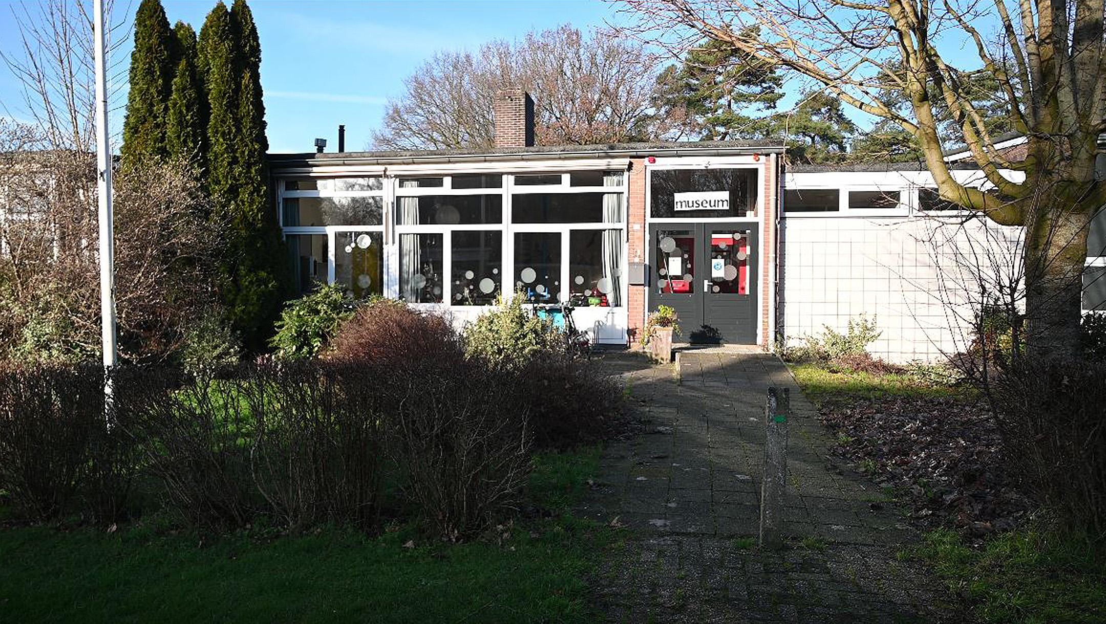 The building of a former school houses the De Duikelaar museum on the rescue of Jews in Nieuwlande, the Netherlands. (Cnaan Liphshiz)