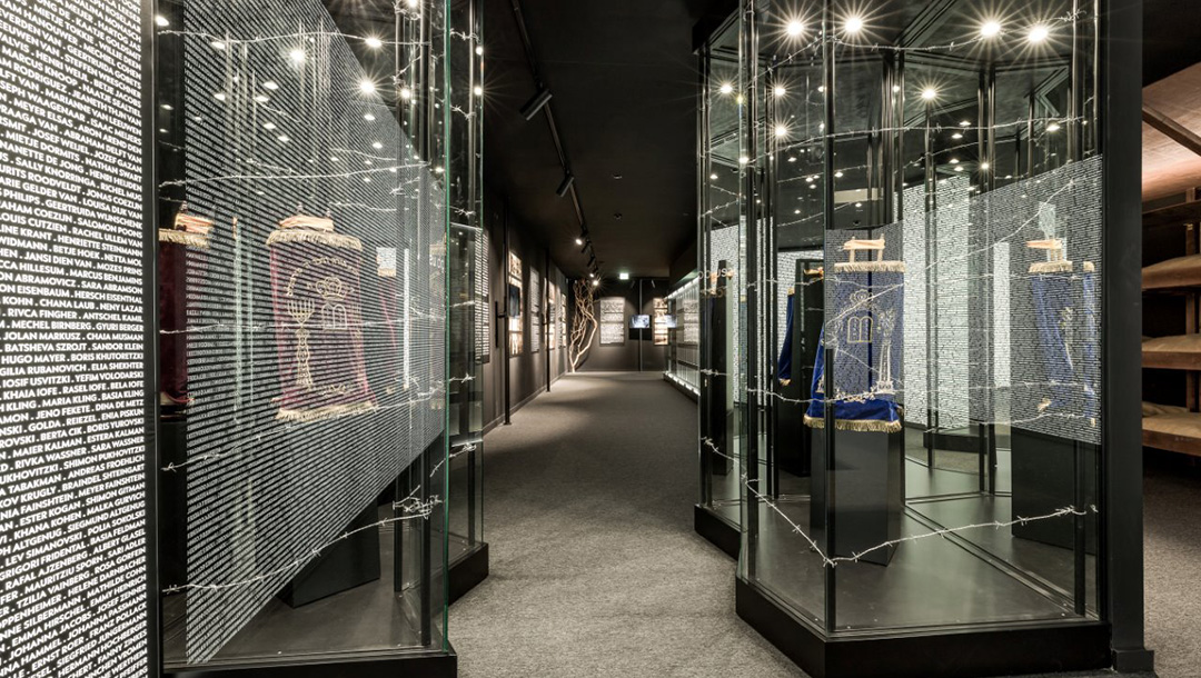 The interior of the Holocaust Museum of Porto, Portugal in January 2021. (Courtesy of the Jewish Community of Porto)