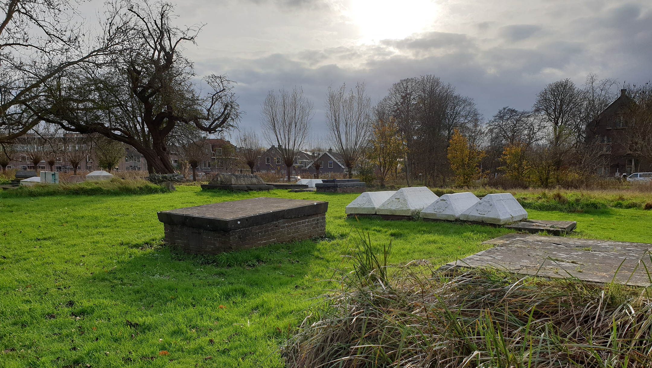 The Jewish cemetery in Ouderkerk aan de Amstel, the Netherlands on Nov. 20, 2020. (Cnaan Liphshiz)