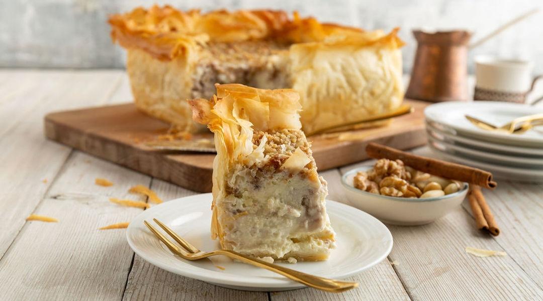One of Kriel's desserts is a baklava cheesecake. (Courtesy of Kriel)