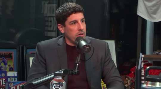 Jason Biggs is known for playing Jewish roles. (Screen shot from YouTube)