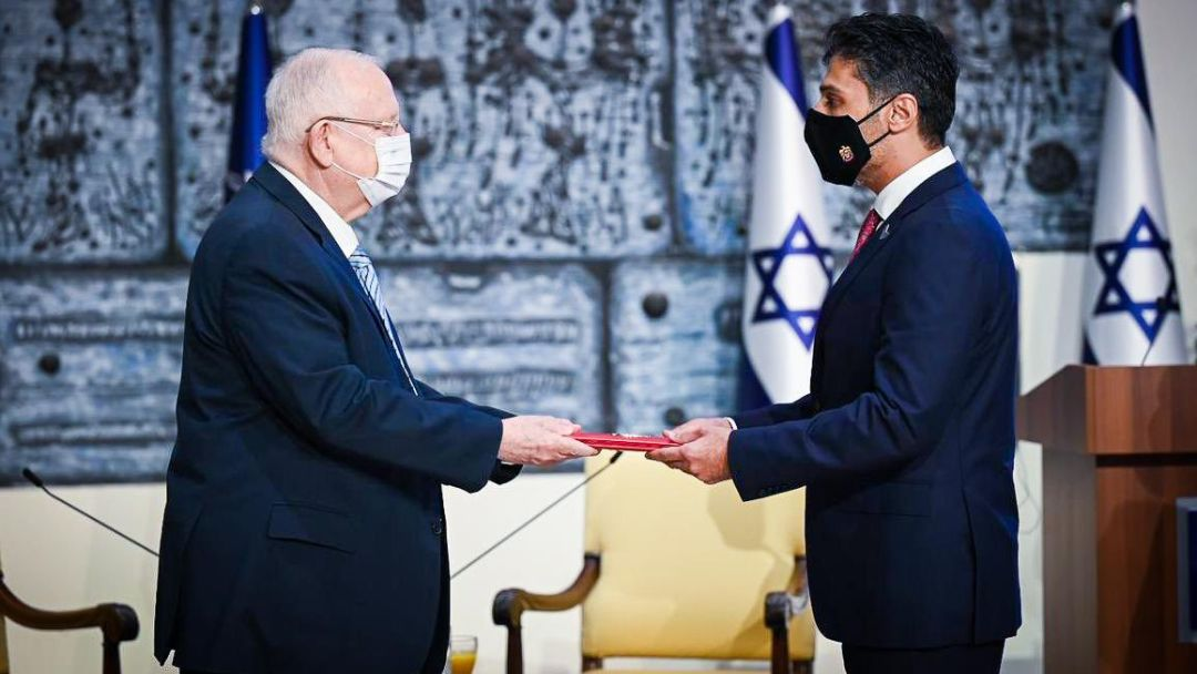 UAE's first ambassador to Israel takes his post