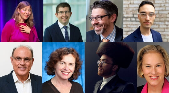 Clockwise from top left: Gabrielle Kaplan-Meyer, Rabbi Seth Winberg, Rabbi Aaron Brusso, Simone Somekh, Linda S. Haase, Meyer Labin, Sara Nuss-Galles, and Dr. Gary Slutkin (Courtesy)
