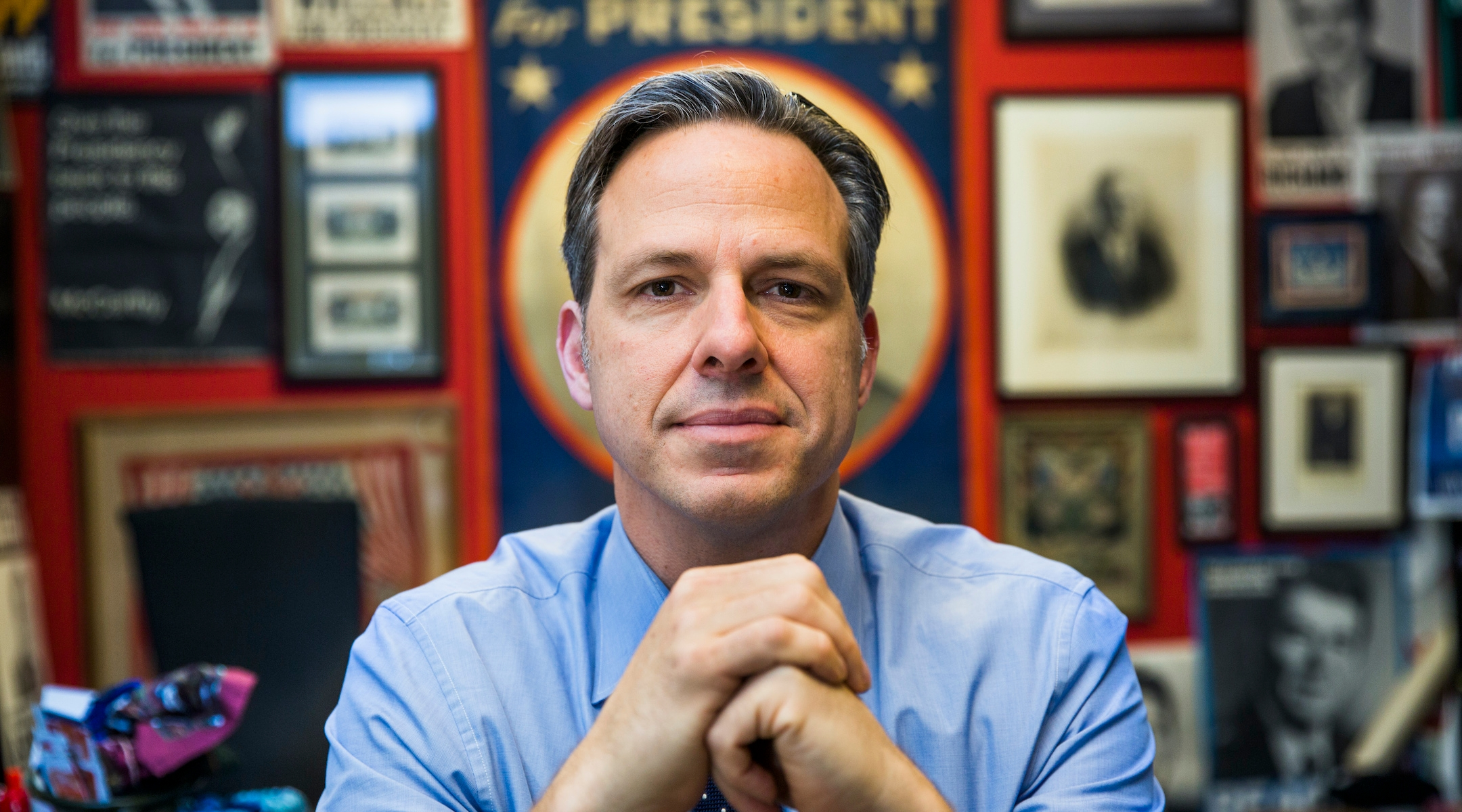 For Jake Tapper, being the rabbi of TV news comes easy
