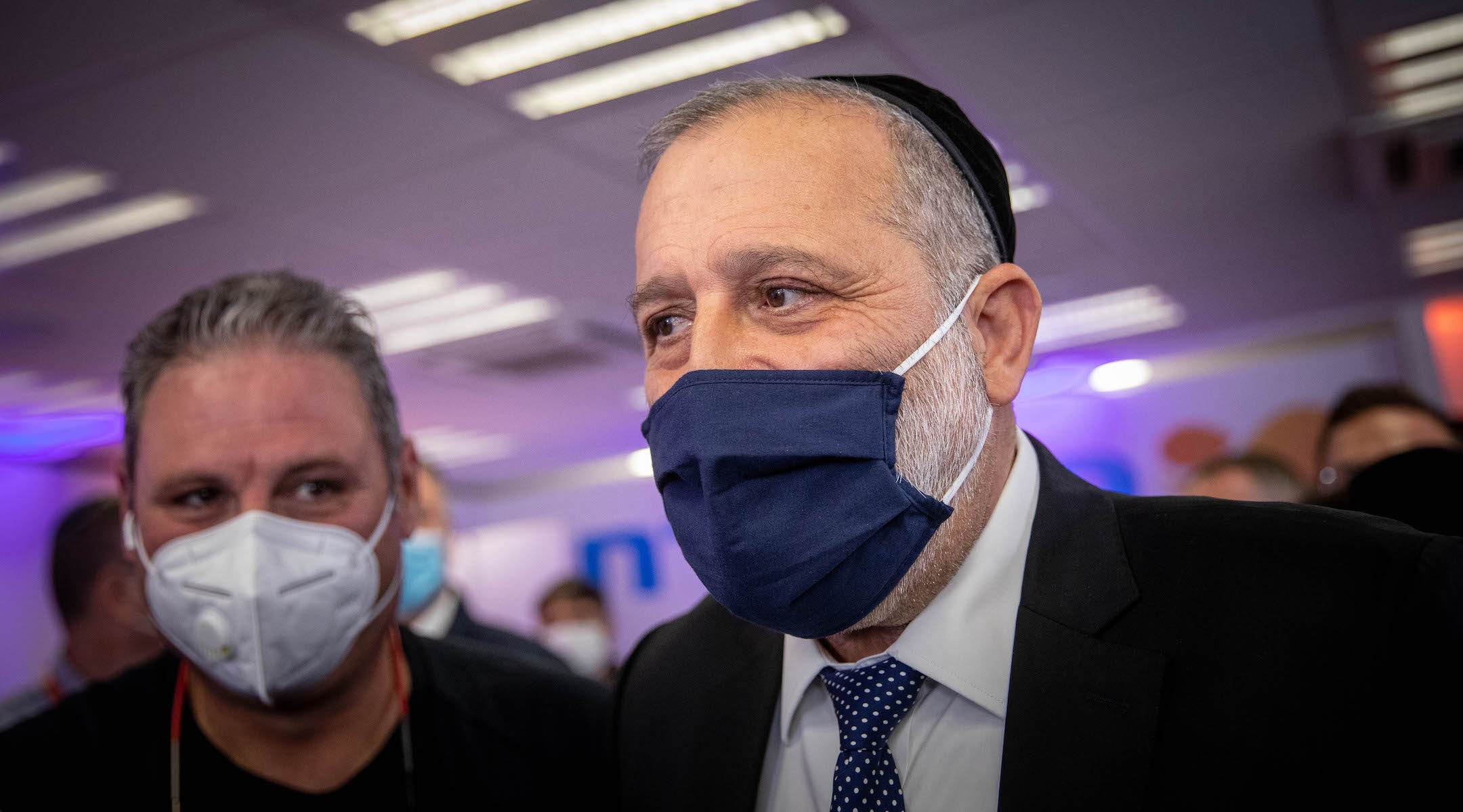 Aryeh Deri, leader of the Sephardi Haredi Shas Party, seen in Jerusalem in December 2020. (Yonatan Sindel/Flash90)